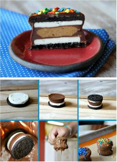 Oreos AND Reese's? Dipped in #Chocolate?!? #FoodPorn Make sure that you're wearing elastic-waist pants!