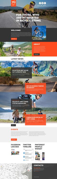 Joomla Template , Cycling
