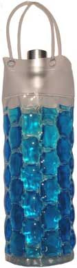 Chillit Wine Bag Cooler: Filled with a freezable gel which keeps your bottle cool for hours. Folds flat to store in the freezer when not in use. (Great also for emergency owies.) Available in blue, green, red and violet. On sale $9.95.-- Fun gift!:)