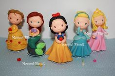 Polymer clay Disney Princesses