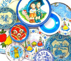 collection of 1950s litho toy tin plates