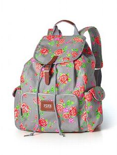 Shop backpacks for school at PINK to find the perfect bag that can handle it all! Shop the selection of cute backpacks & bookbags today. Mochila Victoria Secret, Victoria Secret Rucksack, Victoria Secret Rosa, Floral Backpack, Backpack Purse, Backpack Pattern, Rucksack Bag, Duffle Bags, Canvas Backpack