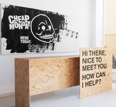 """'Here Today Gone Tomorrow""""Identity and store concept for the Cheap Monday pop up store in Tel Aviv for Belle&Sue.Furniture by Andrey and Shay Kiosk Design, Booth Design, Retail Design, Store Design, Craft Booth Displays, Store Displays, Retail Displays, Window Displays, Central Saint Martins"""