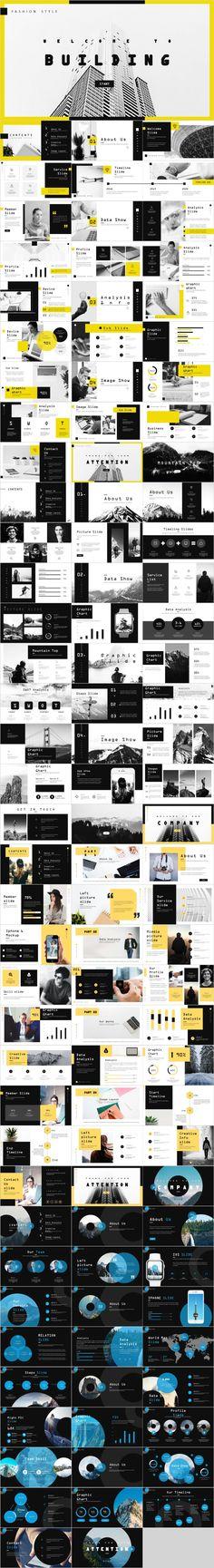 4 in 1 fashion company design PowerPoint template Powerpoint Design Templates, Professional Powerpoint Templates, Ppt Design, Keynote Template, Layout Design, Design Elements, Design Art, Portfolio Presentation, Presentation Design
