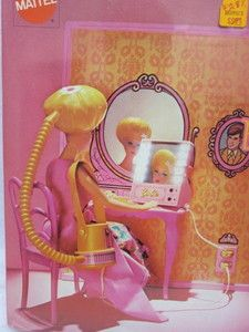 Barbie Action Beauty Scene.  The hair dryer actually worked & so did the mirror.