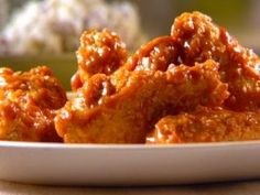 Wings 3 Ways (Honey BBQ Sauce, Spicy Butter Sauce, Lemon/Lime Zest) from Sunny Anderson CookingChannelTV.com