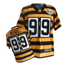 de23cf762 Nike Limited Men s Pittsburgh Steelers  99 Brett Keisel Yellow Alternate  80TH Anniversary Throwback NFL Jersey