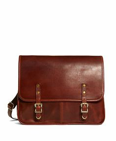 J.W. Hulme Leather Flap Messenger Bag - Brooks Brothers ($580)