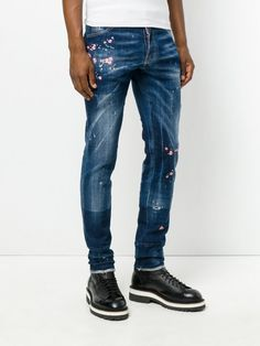 Dsquared2 Embroidered Cool Guy Jeans Blue Men  dsquared2  jeans  fashion   men   448dead6b3d1