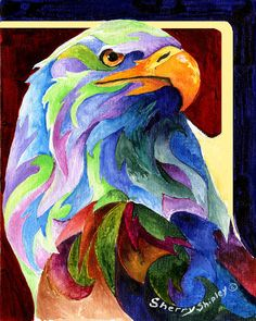 Eagle Spirit Painting by Sherry Shipley - Eagle Spirit Fine Art Prints and Posters for Sale