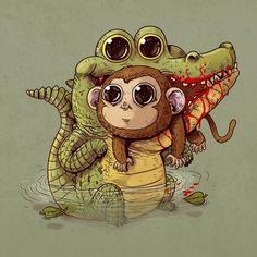 Adorable Predators vs Prey Art