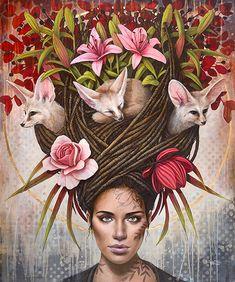 Fennec, Magic Realism, Modern Artists, Famous Artists, Character Illustration, Les Oeuvres, Fantasy Art, Book Art, Artwork
