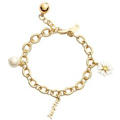 kate spade new york 'how charming - mother's day' charm bracelet ($66) ❤ liked on Polyvore featuring jewelry, bracelets, accessories, pulseiras, wrist, cream multi, pearl charm, pearl jewellery, charm jewelry and charm bangles