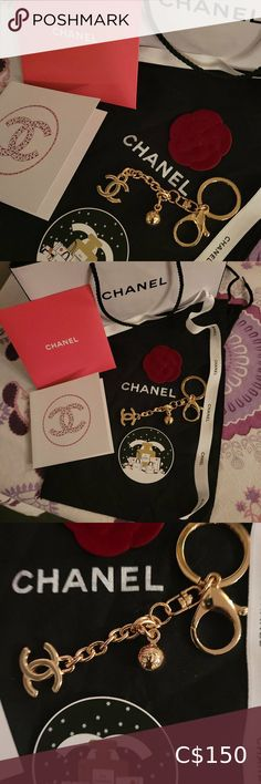Check out this listing I just found on Poshmark: CHANEL KEY RING or bag charm Gold tone. #shopmycloset #poshmark #shopping #style #pinitforlater #CHANEL #Accessories Chanel Card Holder, Key Card Holder, Double Heart Necklace, Chanel Camellia, Box Branding, Purple Suede, Monogram Canvas, Mugs Set, Canvas Leather