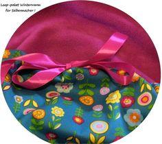 Stoffpakete - Stoffpaket♥Loop♥DIY b.Blumen-Retro-winterwarm - ein Designerstück von kreawusel-aufgehuebscht bei DaWanda