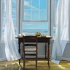 Contemplation Karen Hollingsworth Coastal Interior Window Poster (Choose Size, Print or Canvas) ** You can find out more details at the link of the image. (This is an affiliate link) #NaturalHomeDecor