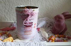 "Vintage-Dose  ""Macarons"" von Rosettas Laden auf DaWanda.com"