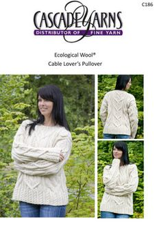 Cable Lovers Pullover in Cascade Ecological Wool - C186