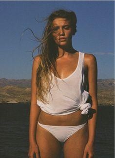 White under shirt and bikini