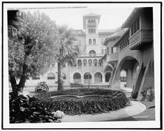 Hotel Green, east building, from veranda of west building, Pasadena, Calif. Altadena California, San Gabriel Valley, Library Of Congress, Public Domain, United States, Mansions, Architecture, House Styles, Building