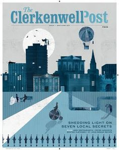 Cover illustration for The Clerkenwell Post. Printed bi-monthly and distributed for free. Yay.