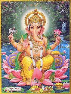 Lord Ganesh is one of the most popular deities in Hindu Mythology. Get ganesha photo frames to your home. Arte Ganesha, Pintura Ganesha, Arte Krishna, Ganesha Tattoo, Ganesh Images, Ganesha Pictures, Shiva Art, Hindu Art, Happy Ganesh Chaturthi Images