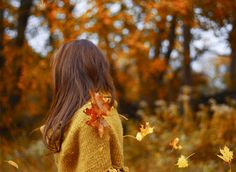 I like to make wishes on falling leaves. I don't why or how I started to but I will especially if one lands on me or if I catch it :)
