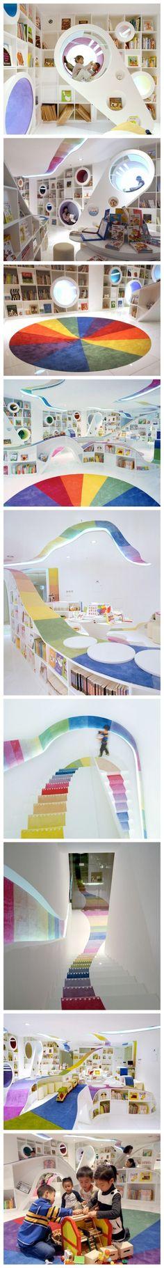 【儿童书店,北京,designed by SAKO】……好想去!!!!!!!!…