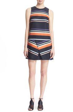 TED BAKER 'Damica' Stripe A-Line Dress. #tedbaker #cloth #