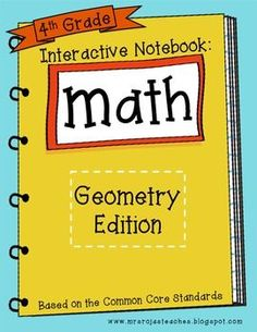 4th Grade Interactive Math Notebook - Geometry #Christmas #thanksgiving #Holiday #quote