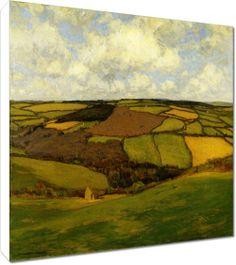 William Wendt - Distant Fields  Archival Canvas Print  $120