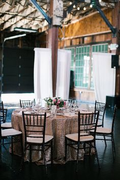 120 D Champagne Sequin Tablecloth We can do custom sizes
