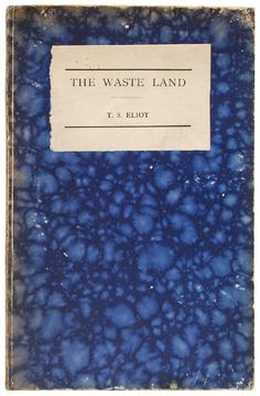 Marble cover and T.S. Eliot