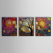 Hand Painted Oil Painting Floral a Tree Set o... – USD $ 89.99