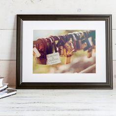 Personalisiertes Bild Liebesschloss farbiger Druck im von LPZGmbH