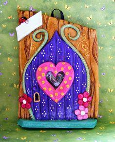 sandylandya@outlook.es Pink Heart Fairy Door