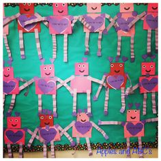 Robot Craft for Valentine's Day - this is perfect because this year Valentine's Day falls during Rr week!