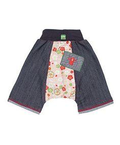Loving this Oishi-m Dark Denim Millions of Peaches Shorts - Infant & Toddler on #zulily! #zulilyfinds