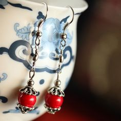 Ethnic Jewelry - Tibet Nepal Style Cheap Simple Tibetan Earrings