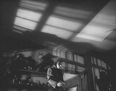 Raw Deal -- Anthony Mann 1948 -- parole officer Marsha Hunt does the unthinkable.  Alton had no fear of ceilings or shadow.