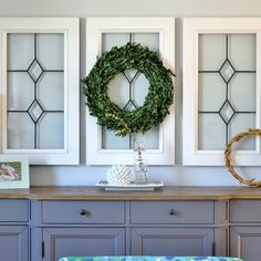 Love the Fixer Upper look? A little bit of paint and sandpaper took these window panes from lackluster to lovely!