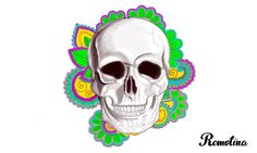 #Skull #flowers #Photoshop
