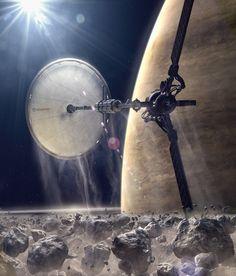 Found this schweek piece of sci-fi art on this dud'es concept art page>>> Daren Horley