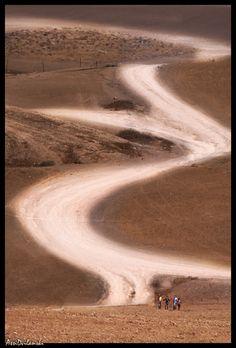 Bedouin tribesman walking the Northern Negev Desert. Beer Sheva, Israel,Copyright: Assi Dvilanski