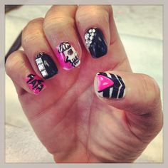 Lady gaga nails! Little monster! Paws up! By PrinceNails!!