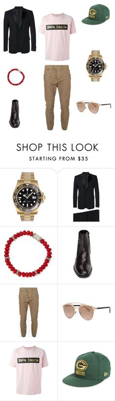 """❤️#gentleman #streetstyle #streetchic #streetlook #streetfashion #streetphotography #fashion #fashionweek #fashionista #lady #style #stylish #elegance #glam #posh #fashionblogger  #look #whattowear #quemepongo  #holidays #xmassweater #man #gentleman"" by michaelamc ❤ liked on Polyvore featuring Rolex, Givenchy, John Hardy, Monte Rosso, Balmain, Christian Dior, Palm Angels, New Era, women's clothing and women's fashion"