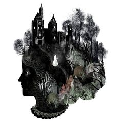 Surreal illustration by Julia Iredale