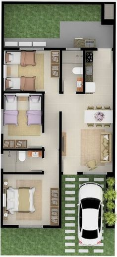 Trendy Home Living Room Small Tiny House 70 Ideas House Layout Plans, Modern House Plans, Small House Plans, House Layouts, House Floor Plans, Small Tiny House, Small House Design, Casas Containers, Apartment Plans
