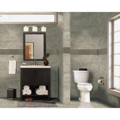 MS International Trevi Gris 12 in. x 24 in. Glazed Porcelain Floor and Wall Tile (16 sq. ft. / case)-NHDTREGRI12X24 - The Home Depot