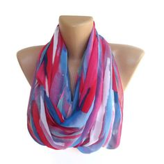 fashion neon women scarf  chiffon trendy scarves  girly  by seno, $19.00